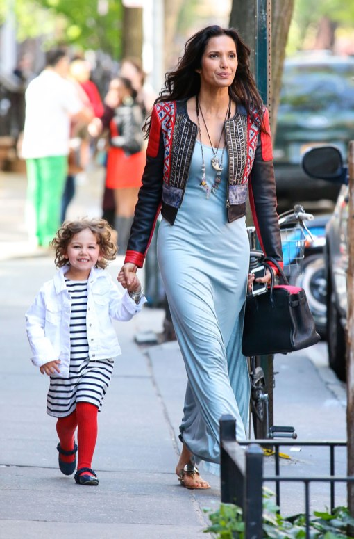 Padma Lakshmi & Daughter Krishna Out And About In New York