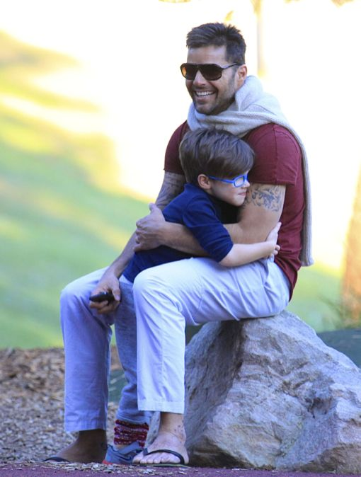 Exclusive... Ricky Martin Takes His Boys To The Park ...