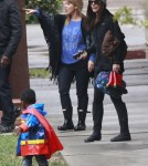 Semi-Exclusive... Sandra Bullock Picks Up Her Mini Superman