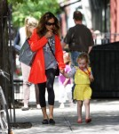 Sarah Jessica Parker Walks Her Daughters Home In NYC
