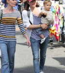 Selma Blair And Her Son At The Farmers Market