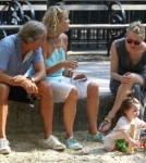 Sienna Miller & Family Enjoy A Day At The Park