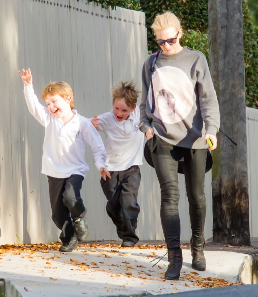 Cate Blanchett Picks Up Her Happy Youngsters