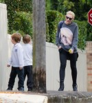 Exclusive... Cate Blanchett & Sons Out In Sydney