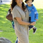 Mariska Hargitay & Her Children Attend The Baby Buggy Bedtime Bash