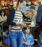 Alessandra Ambrosio Shops At Whole Foods With Her Daughter