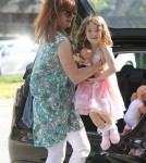 Alyson Hannigan Takes Her Daughter Out For Dinner In Brentwood