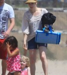 Exclusive... Amy Adams & Family Enjoy A Day At The Beach
