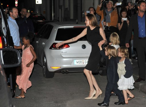 Angelina Jolie Celebrates Her 38th Birthday In Berlin With Family