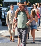 Dave Matthews Out With His Kids In NYC