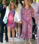 Pregnant Fergie And Erinn Bartlett Leaving Erinn's Baby Shower