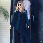 Fergie & Josh Duhamel Attend Sunday Service