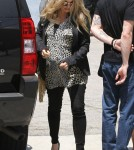 Pregnant Fergie Heads To The Studio