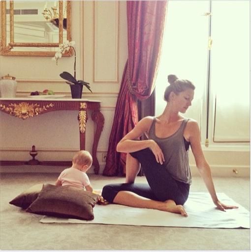 Gisele Bundchen Has a New Yoga Partner!