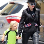 Gwen Stefani & Zuma Do Some Discount Shopping