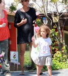 Pregnant Halle Berry Picks Nahla Up From School