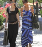Pregnant Halle Berry Shops With A Friend