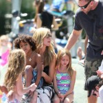 Heidi Klum & Family Soak Up The Sun at a Water Playground
