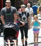 Heidi Klum & Martin Kristen Take Her Kids For A Stroll