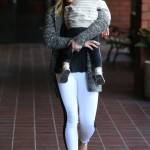 Hilary Duff Takes Her Sleepy Son To Babies Class