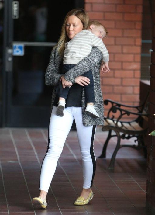 Hilary Duff Takes Her Sleepy Son To Babies Class
