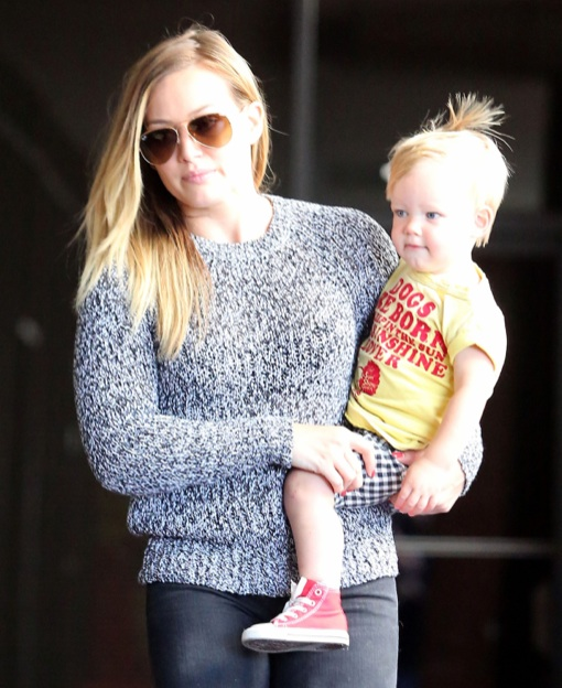 Hilary Duff Takes Her Little Boy To His Babies Class