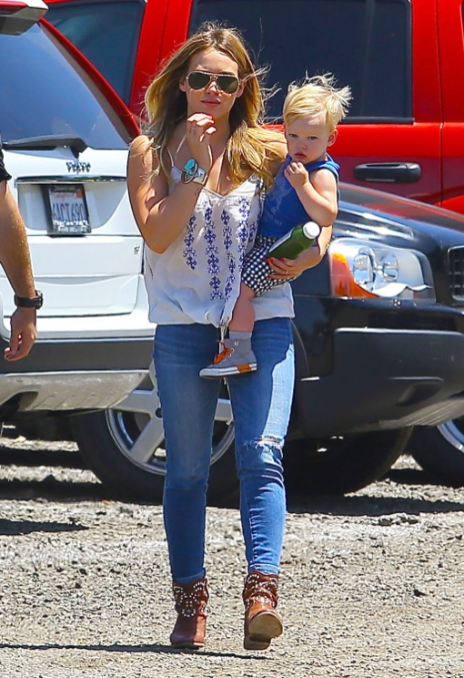 Hilary Duff Goes Strawberry Picking With Family