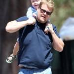 James Corden: Dotes on Max While Enjoying a Family Day