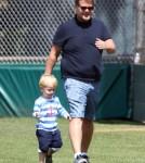 Exclusive... James Corden & Family Enjoy A Day At The Park