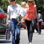 January Jones: Lunch Date With Mom and Son