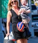 Jane Krakowski And Her Son Go For A Walk