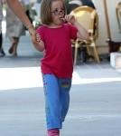 Jennifer Garner Takes Her Kids To Get Haircuts