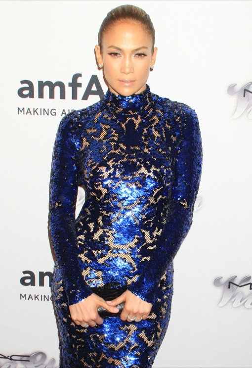 Jennifer Lopez at the 4th Annual amfAR Inspiration Gala New York at The Plaza Hotel in New York City, New York on June 13,