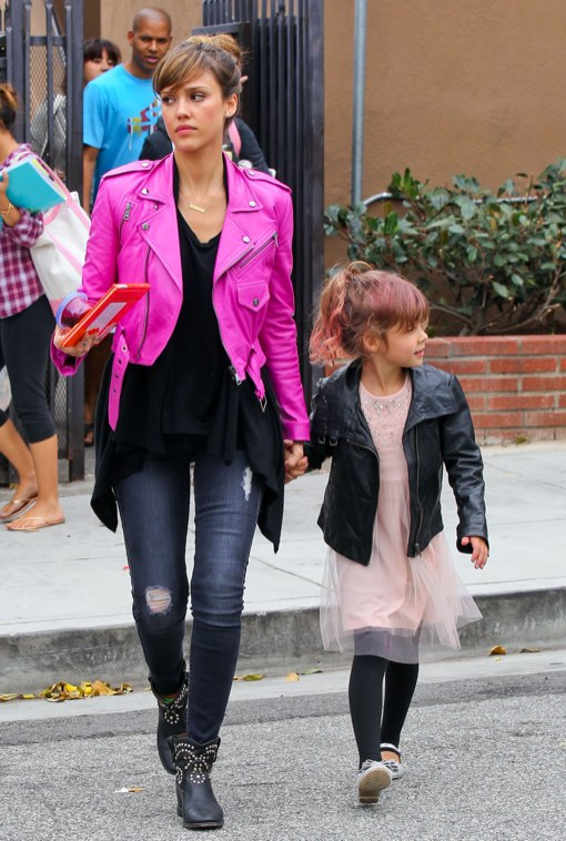 Exclusive... Jessica Alba Picking Up Honor From School