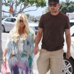 Jessica Simpson Looks Ready To Pop in Tie-Dye Dress