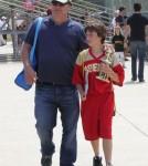 Jim Belushi Watching His Son's Football Game