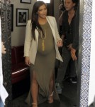 Kim Kardashian Shows Off Huge Baby Bump