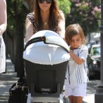 Kourtney Kardashian Enjoys A Market Day With Her Babies