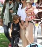 Kourtney Kardashian & Kids Out With A Friend In Los Angeles