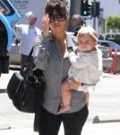 Kourtney Kardashian Takes Baby Penelope To Lunch