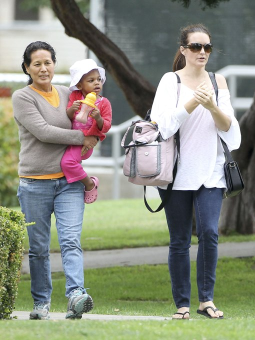 Exclusive... Kristin Davis Takes Gemma Rose to the Park
