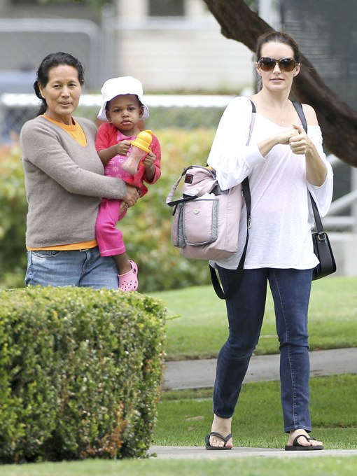Kristin Davis: Park Day With Gemma and Her Nanny