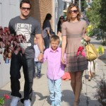 Mark Wahlberg & Family Head to a Party