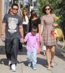 Mark Wahlberg & Family Attend A Party
