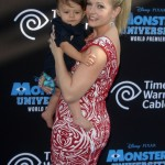 Melissa Joan Hart Walks The Blue Carpet With Tucker