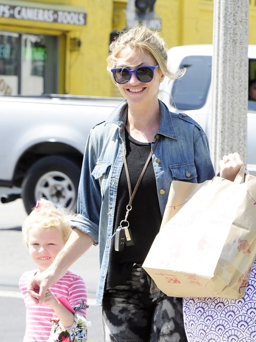 Rebecca Gayheart Picks Up Billie From School