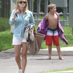Reese Witherspoon Enjoys a Pool Day With Deacon In Nashville