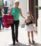 Shanna Moakler & Daughter Alabama Shopping At The Grove