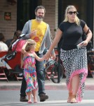 Exclusive... Busy Philipps & Family Lunch At Little Dom's
