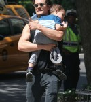 Orlando Bloom Takes Son Flynn To The Park